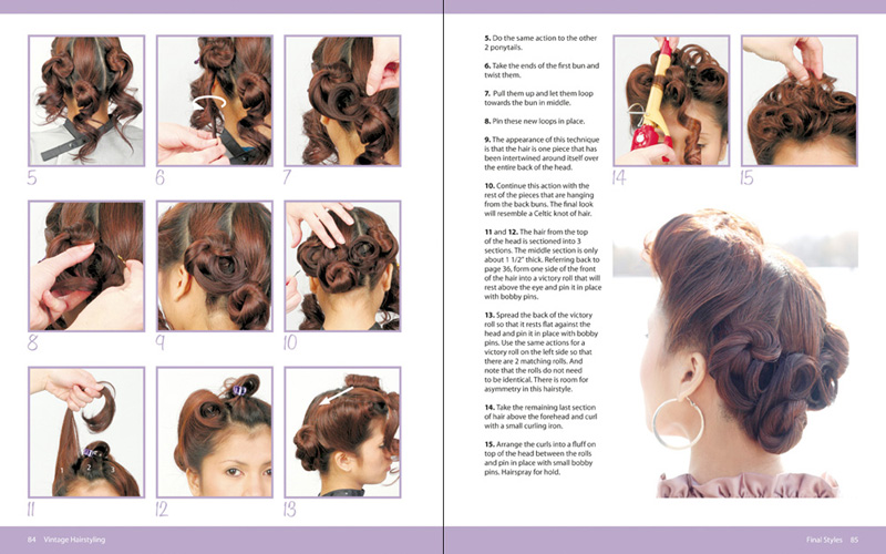 Pin Curls Hairstyle Ideas Pin Curl Hairstyle Illustrations
