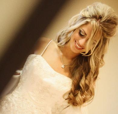 Hairstyle for long dress